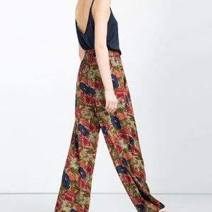 Zara floral trousers